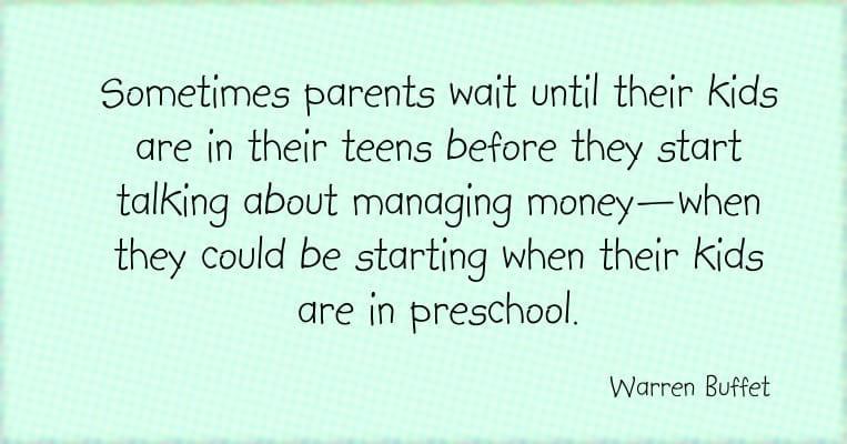 KIds' money education starts in pre-school